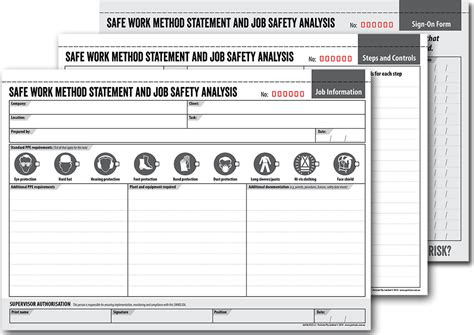 safe work method statement job safety analysis book