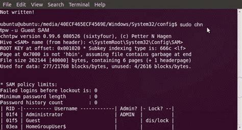 reset windows xp password with ubuntu 2012 september password recovery part 4