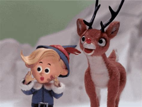 Hermey Black rudolph the nosed reindeer gif wifflegif