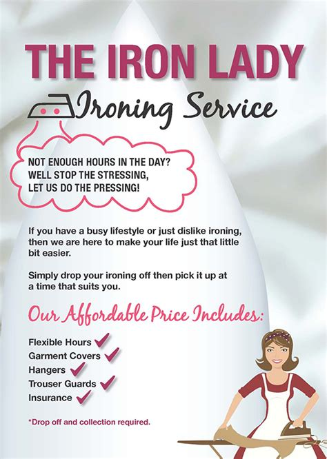 Ironing Service Flyer Template elements