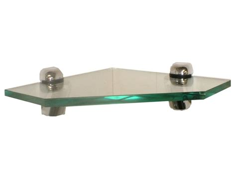 Corner Shelf Brackets by Glass Corner Shelf With Brackets Various Thicknesses Ebay