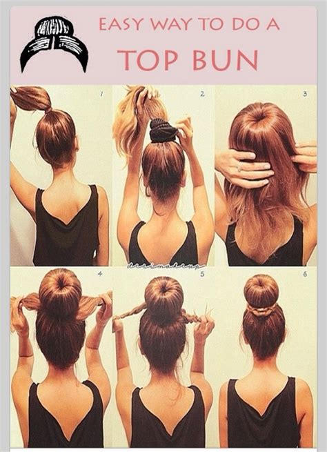 how do you put in your hair easy way to do a top bun trusper