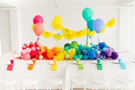 Baby Shower Balloon Centerpiece by Rainbow Balloon Centerpiece Baby Showers Balloon Time