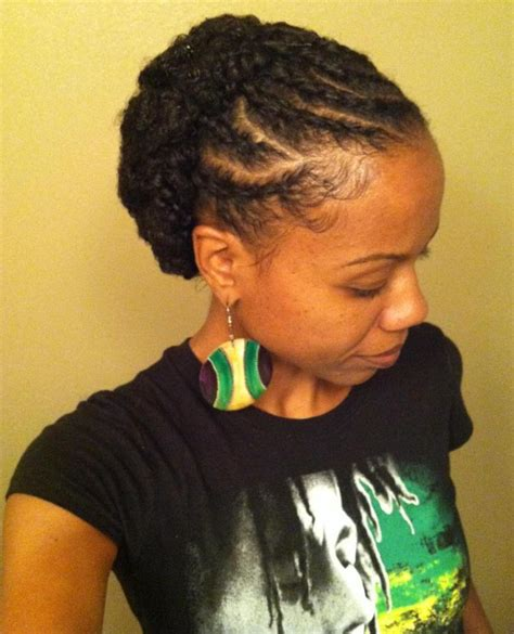 flat twist and bun style flat twist bun natural hair styles hairstyles pinterest