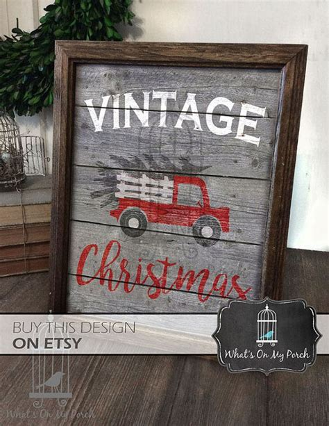 vintage christmas red truck  wood background  myporchprints christmas red truck christmas