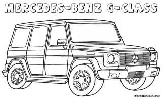 mercedes coloring pages children coloring