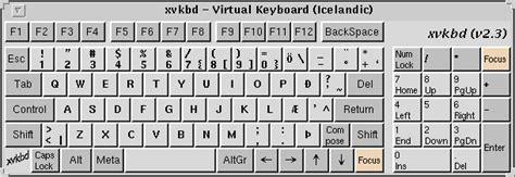 keyboard layout danish xvkbd virtual keyboard for x window system