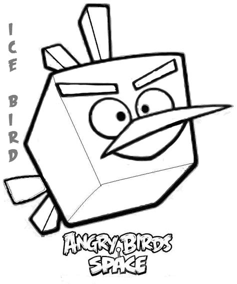 dibujos para colorear angry birds ice bird angry birds dibujos de angry birds para
