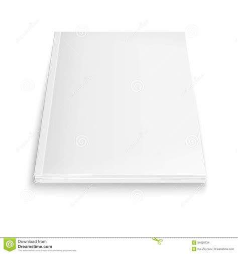 blank magazine template with soft shadows stock images