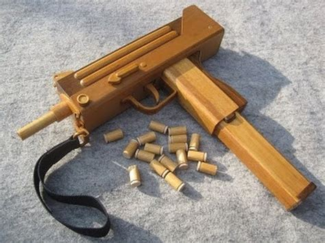How To Make A Paper Smg - blow back rubber band gun 06 0 mac10 s m g ejection