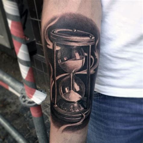 hourglass tattoo for men 60 hourglass designs for passage of time