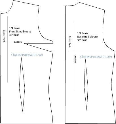 pattern drafting for blouse this is what the final draft for the fitted blouse or