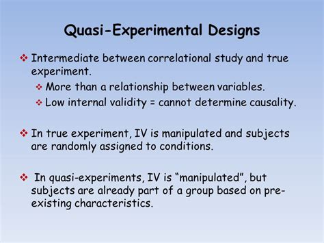 experimental study design quasi experimental designs ppt video online download