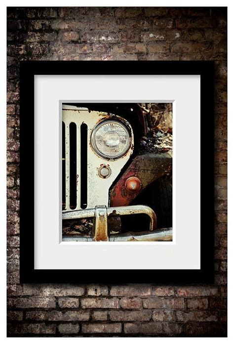 jeep painting canvas jeep print or canvas wrap jeep art jeep decor vintage