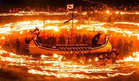 viking fire boat viking fire festival daily record