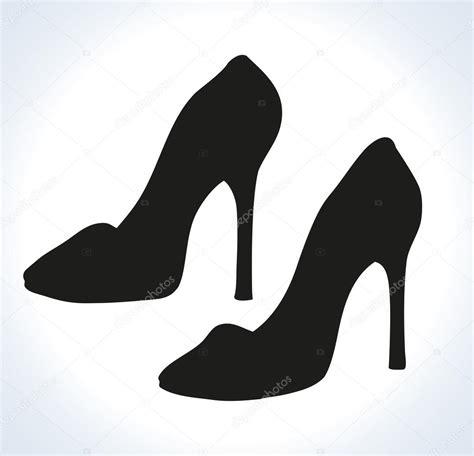 desenho femininos sapatos femininos desenho vetorial vetores de stock
