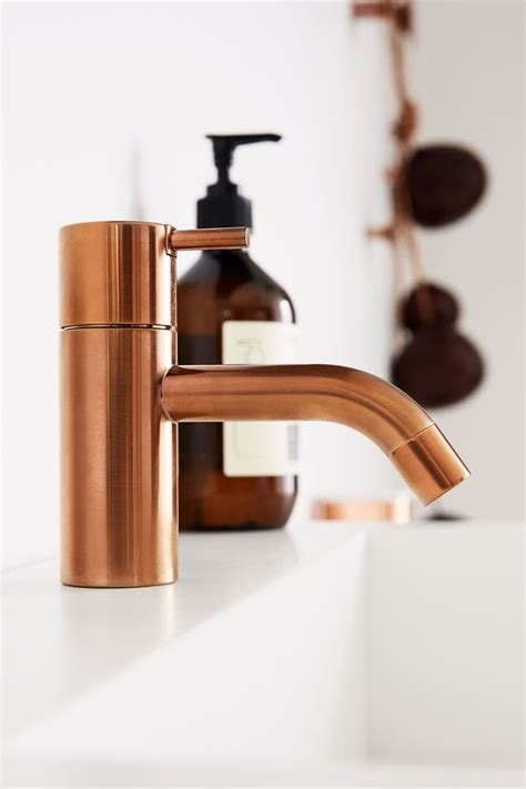 copper bathroom taps copper basin mixer tap vola hv1 designed by arne