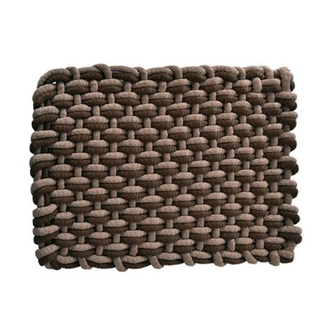 saddle brown and almond polyester door mat rope