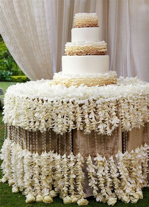 stunning tablecloths ideas for cake table display weddceremony