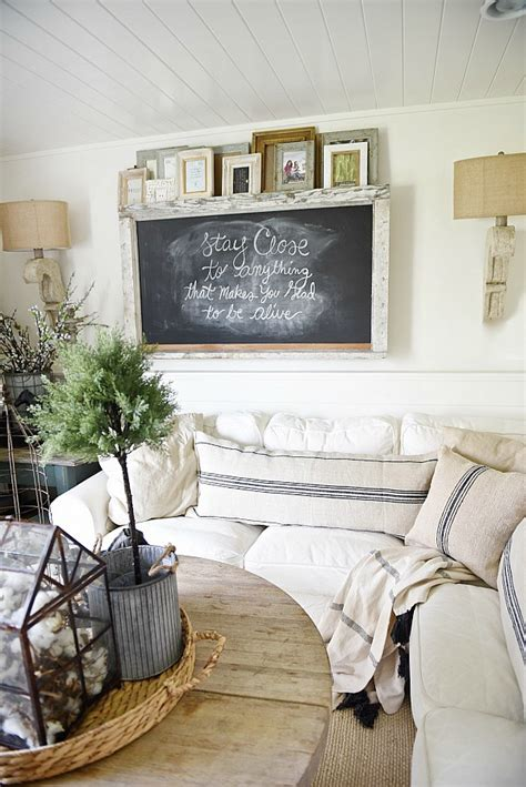 farmhouse home decor creative ways to decorate above the sofa little vintage nest