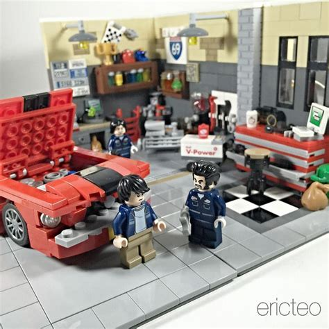 tutorial lego single car garage 17 best images about lego moc eric teo on pinterest