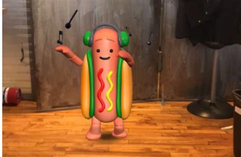 dancing snapchat hot dog       hilarious