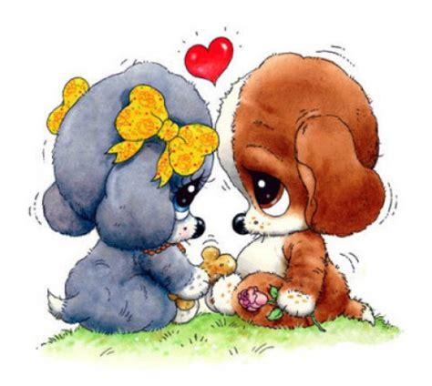 imagenes animadas y tiernas im 225 genes tiernas de perritos enamorados