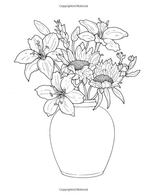 coloring page of vase with sunflowers 1000 images about coloring on pinterest dovers gel