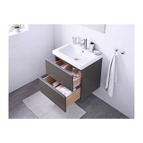 ikea bathroom sink cabinet reviews odensvik godmorgon wash stand with 2 drawers high gloss