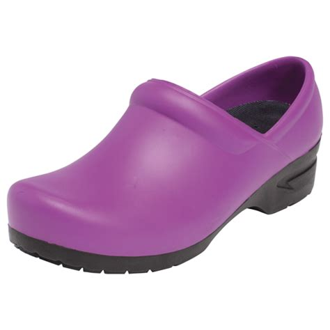 plastic clogs for closed back plastic clog in plum from the shop