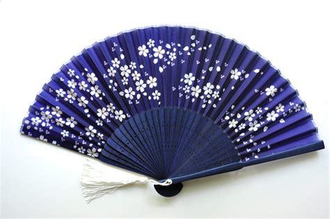 Handmade Fans - silk midnight fan with sleeve handheld folding