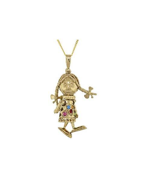 rag doll necklace 9ct gold mini rag doll necklace fashion world