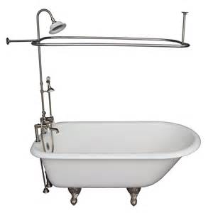 shop barclay 60 75 in white cast iron clawfoot bathtub