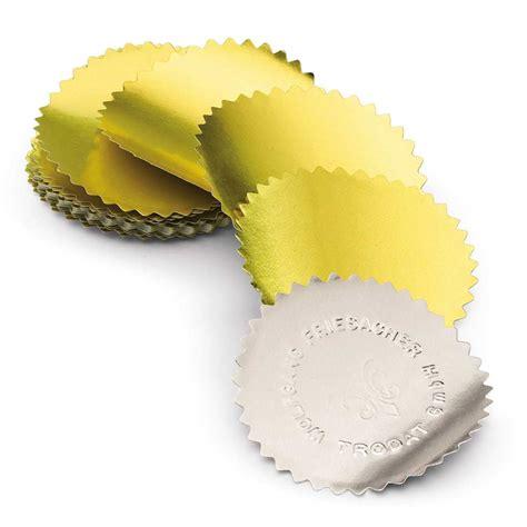 Etiketten Rolle Gold by Etiketten F 252 R Pr 228 Gezangen 250 St 252 Ck Gold Durchmesser 55mm