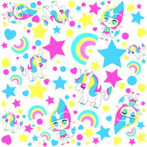unicorn pattern fabric kawaii rainbow unicorn pattern fabric katbrunnegraff
