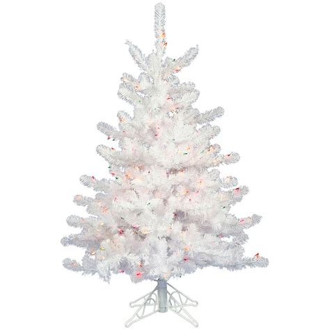 3 foot crystal white mini christmas tree unlit a805730
