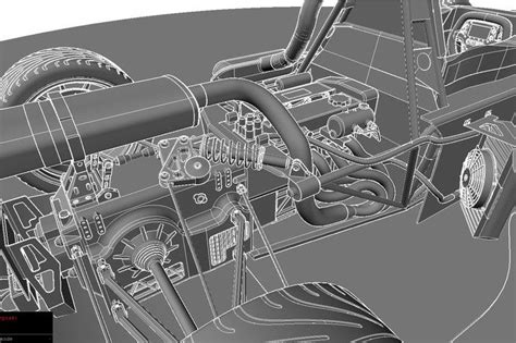 Cobra Auto Cad by Sports Car With Details Bac Mono Autocad Autodesk 3ds