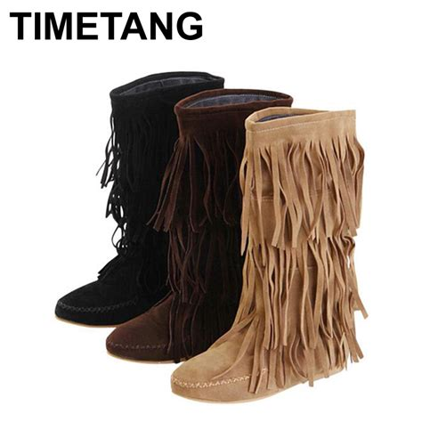 fringe boots cheap get cheap 3 layer fringe boots for