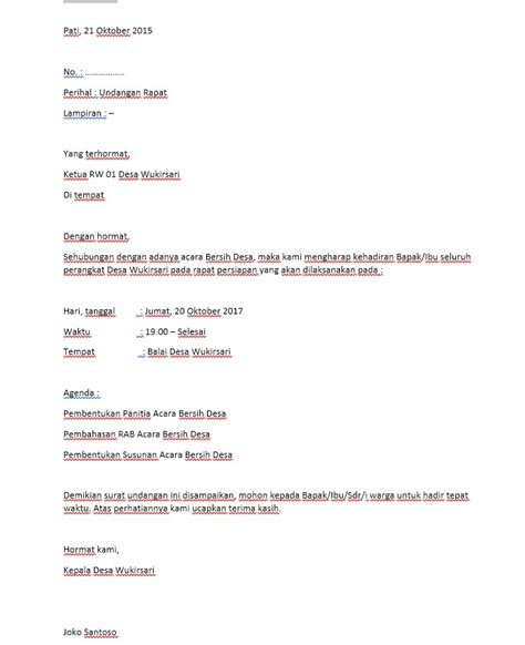 contoh format daftar hadir rapat desa contoh surat undangan rapat desa format docs