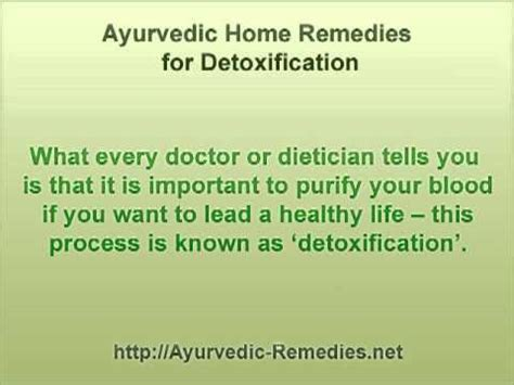 Ayurvedic Detox Diet At Home by Ayurvedic Home Remedies Detox Your Naturally With