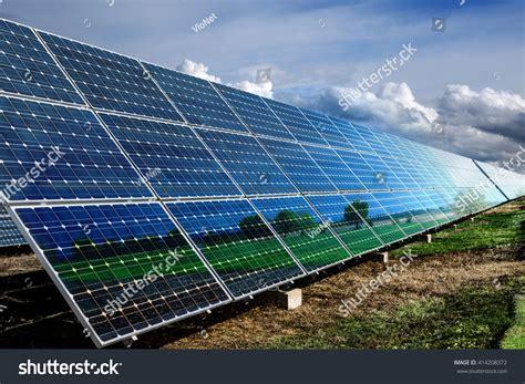 do solar panels reflect light blue solar panels with reflection stock photo 414208372