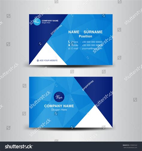 business card site template vector modern creative clean business card stock vector