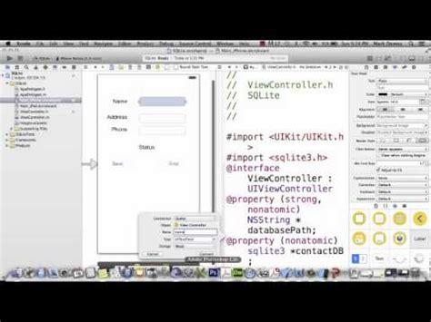 tutorial c sqlite ios 7 tutorial 18 sqlite databases part 1 doovi