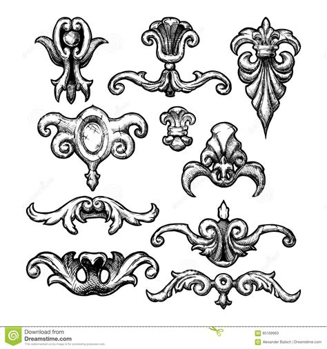 free baroque design elements vector baroque and renaissance decorative design elements stock