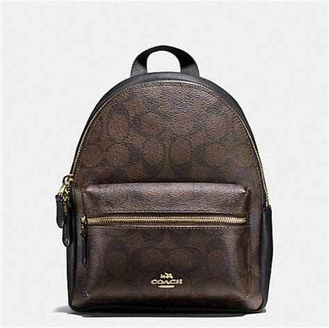 Coach Signature Mini Backpack 100 Original coach mini 58315 brown signature gold leather