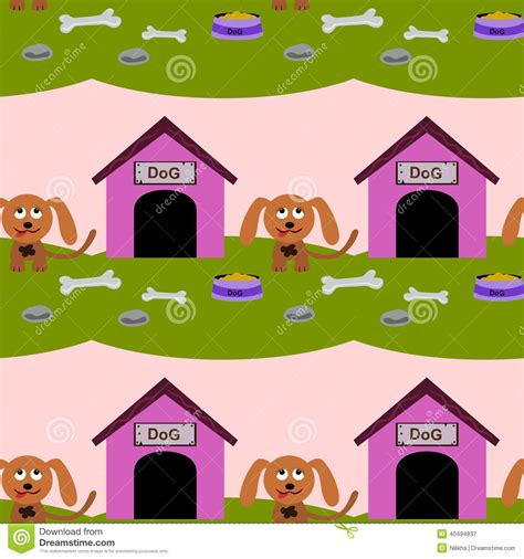 dog house background dog house seamless background design stock illustration image 40494837