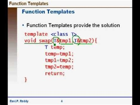 function templates in c youtube