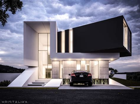 contemporary architecture design exle of stacked upper floor https www aminkhoury com