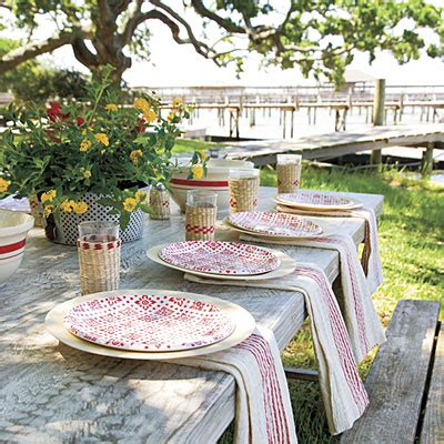outdoor table setting fourth of july table setting fourth of july party menu