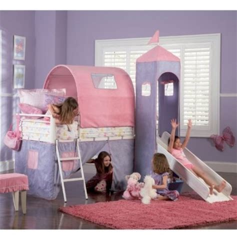 Powell Princess Castle Twin Tent Bunk Bed With Slide Princess Bunk Beds With Slide